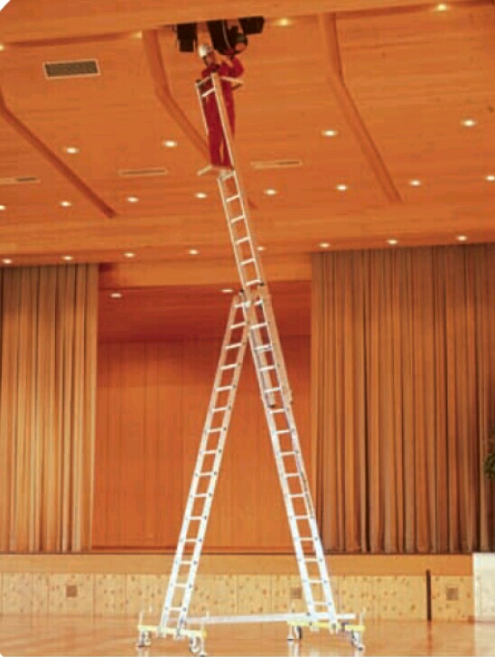 Self supportive extention ladder